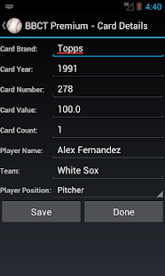 Baseball Card Tracker Premium- screenshot thumbnail