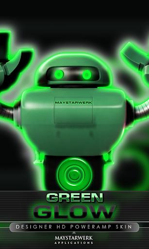 poweramp skin glow green