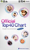 Screenshot of Official Top 40 Chart App