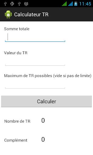 Calculateur TR