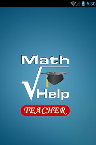 Math Help Services Teacher app