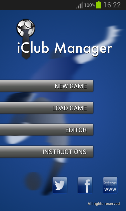 iClub Manager Free - screenshot