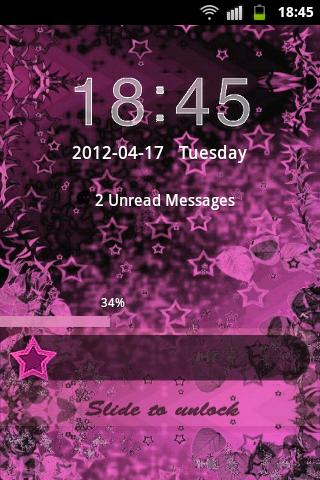 GO Locker Theme Pink Dark - screenshot