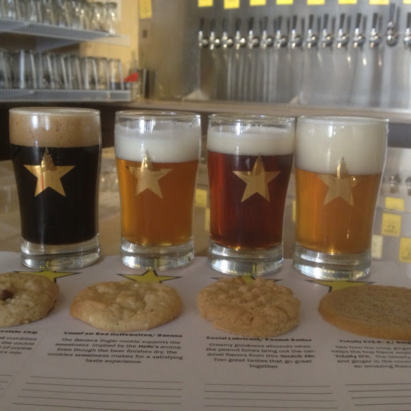 Beer paired with cookies