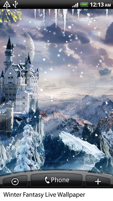 Winter Fantasy Live Wallpaper - screenshot