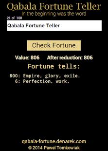 Qabala Fortune Teller