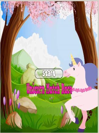 Unicorn Kids Match Race