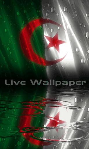 Algeria Flag Raindrop