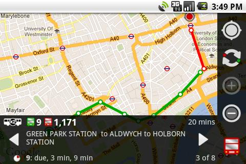 London Bus Traveller - screenshot