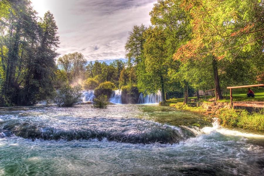 Late summer in Rastoke by Peter Kennett - Landscapes Travel ( plitvice, rastoke, village, waterfall, croatia, river )