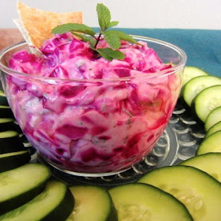 Herbed Beet Yogurt Dip