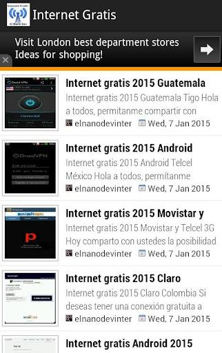 Internet gratis 2015 Android