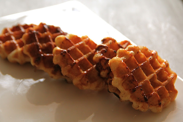Express Sugar/Cinnamon Waffle (with Pizza Dough) Recipe