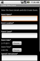 Screenshot of CaterShark Catering App
