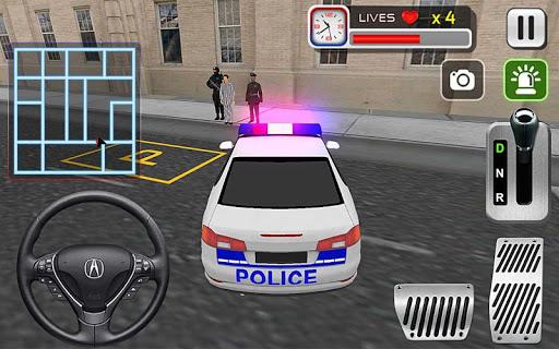 미친 경찰 자동차 드라이버 3D
