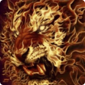 3D Flaming lion live wallpaper