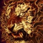 3D Flaming lion live wallpaper