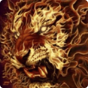 3D Flaming lion live wallpaper apk
