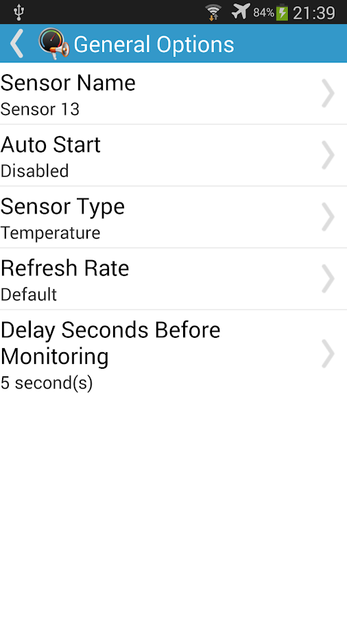 Sensor Monitor- screenshot