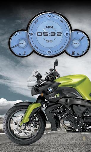 BMW K1200R Moto Clock Widget