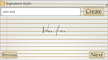 Screenshot of Signature Style