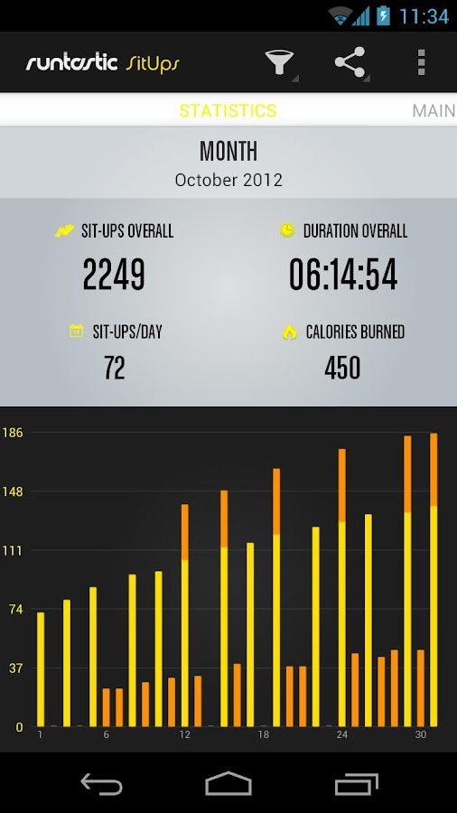 Runtastic Sit-Ups - screenshot