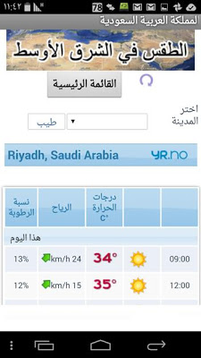 Weather Forecast Middle East - screenshot