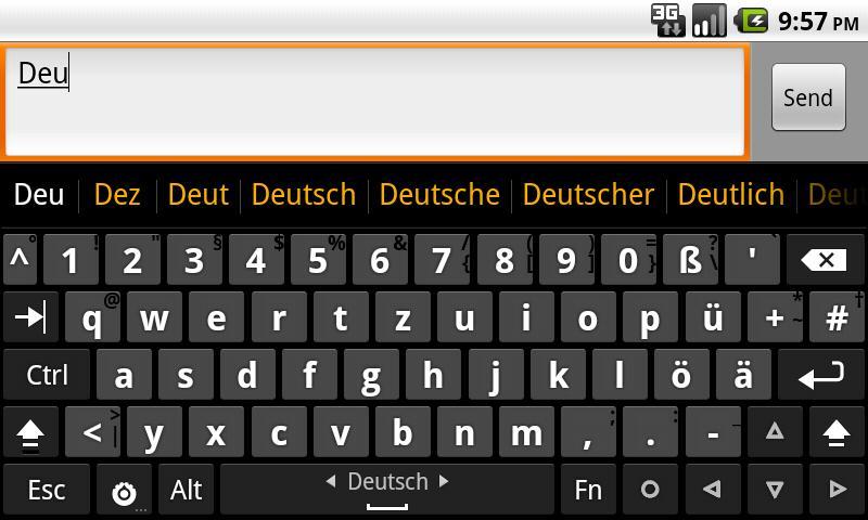 German dictionary (Deutsch)- screenshot