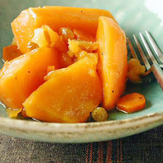 Sweet Potato and Carrot Tzimmes.