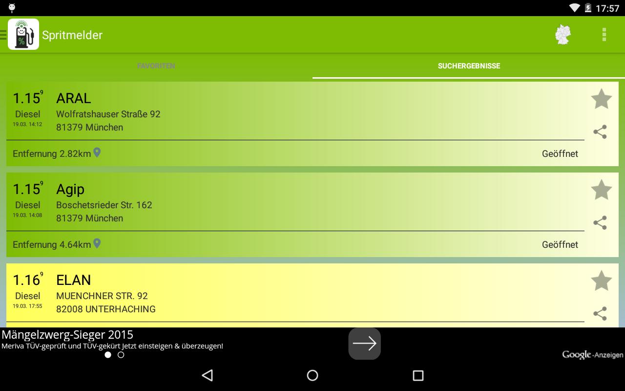 spritmelder g nstig tanken android apps on google play. Black Bedroom Furniture Sets. Home Design Ideas