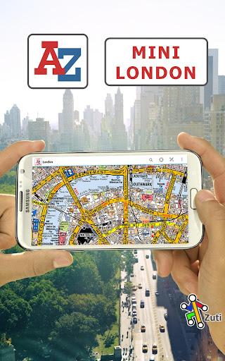 London Mini A-Z Map by Zuti