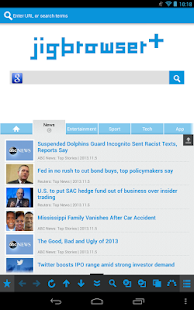 jigbrowser+ - Fast Tab Browser - screenshot thumbnail