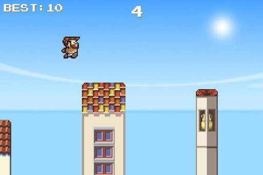 Flappy Santos:Bird on the Roof