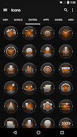 Screenshot of Black and Orange - Icon Pack