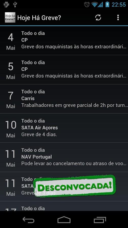 Hoje Há Greve?- screenshot