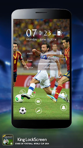 【免費個人化App】足球 2014年锁屏界面-APP點子
