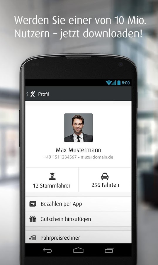 mytaxi – Die Taxi App - screenshot