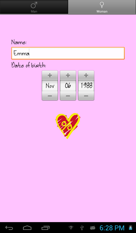 Love %: Compatibility Test- screenshot