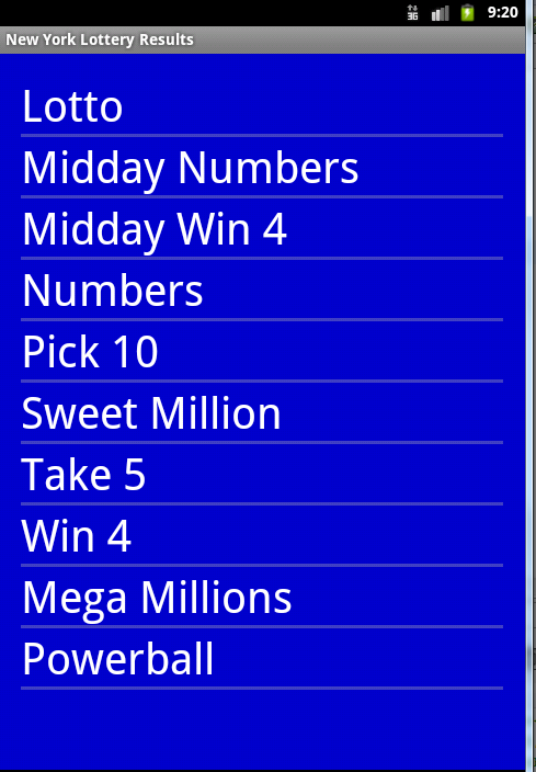 Lottery Ny Numbers Results