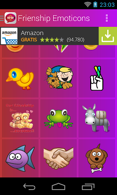 Friendship Emoticons - screenshot