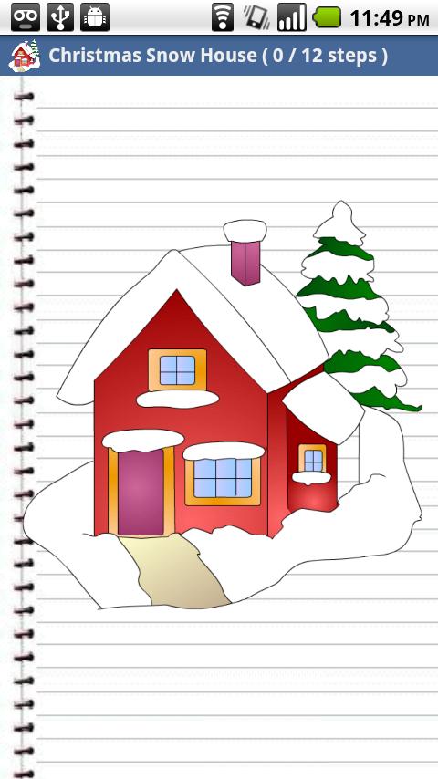 draw christmas for kids screenshot