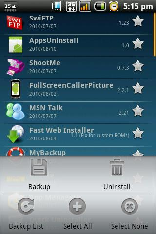 App Backup & Reinstall - screenshot