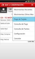 Screenshot of Mobile Banking BAC Credomatic