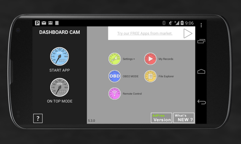 Dashboard Cam - screenshot