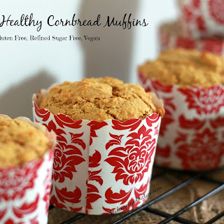Simple Healthy Cornbread Muffins.