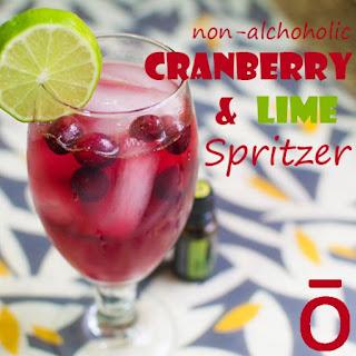 Non-Alcoholic Cranberry & Lime Spritzer