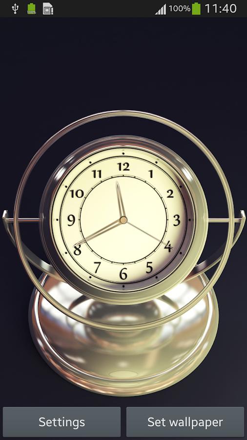 3d clock wallpaper - photo #16