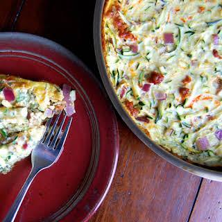 Zucchini & Chorizo Breakfast Casserole.