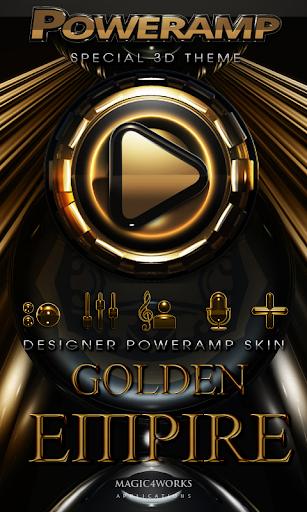 Poweramp skin Golden Empire