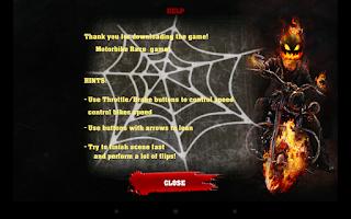 Screenshot of Halloween Bike rider game